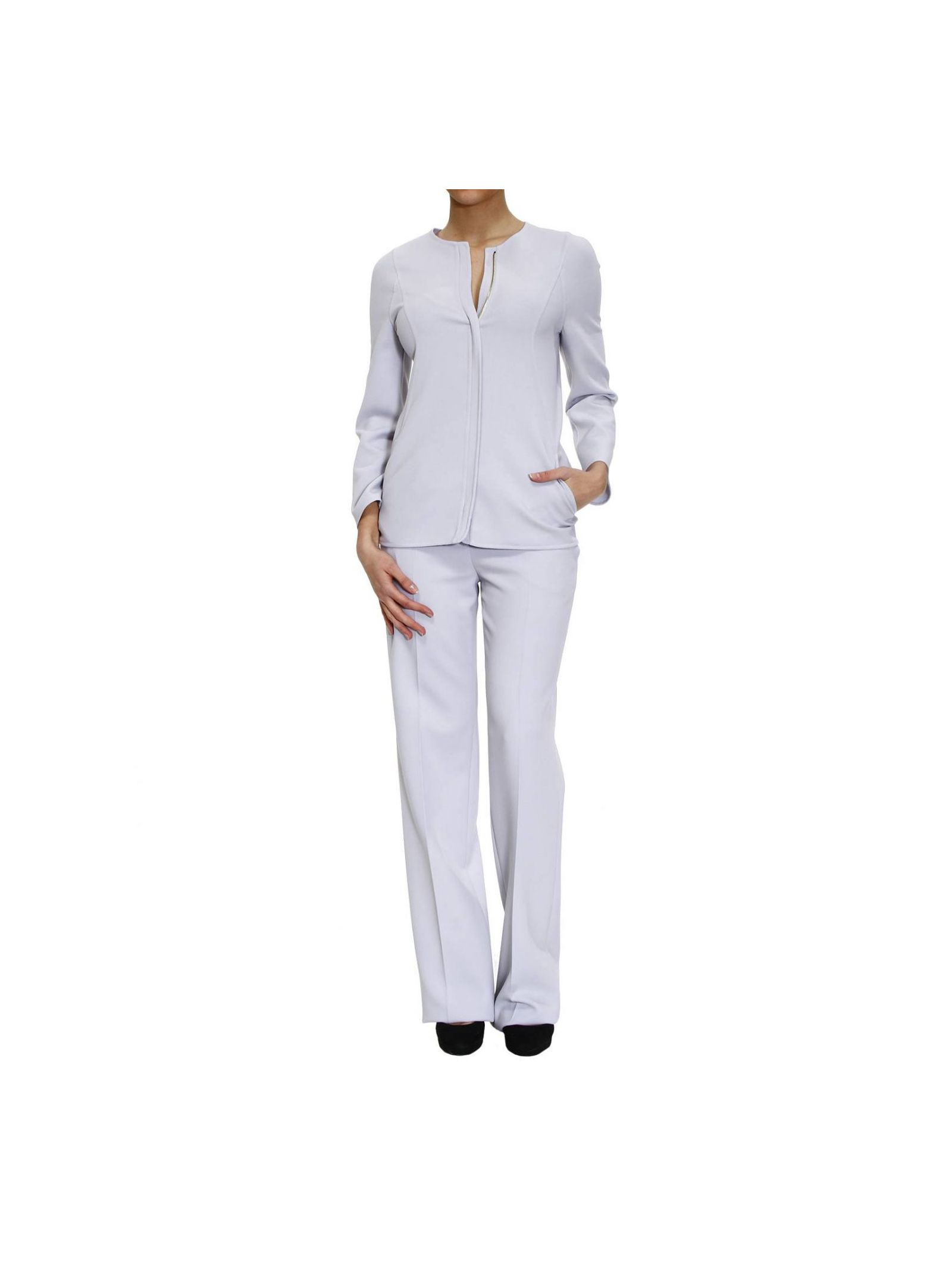 Suit Zipped Double Canvas Pants Tailleur