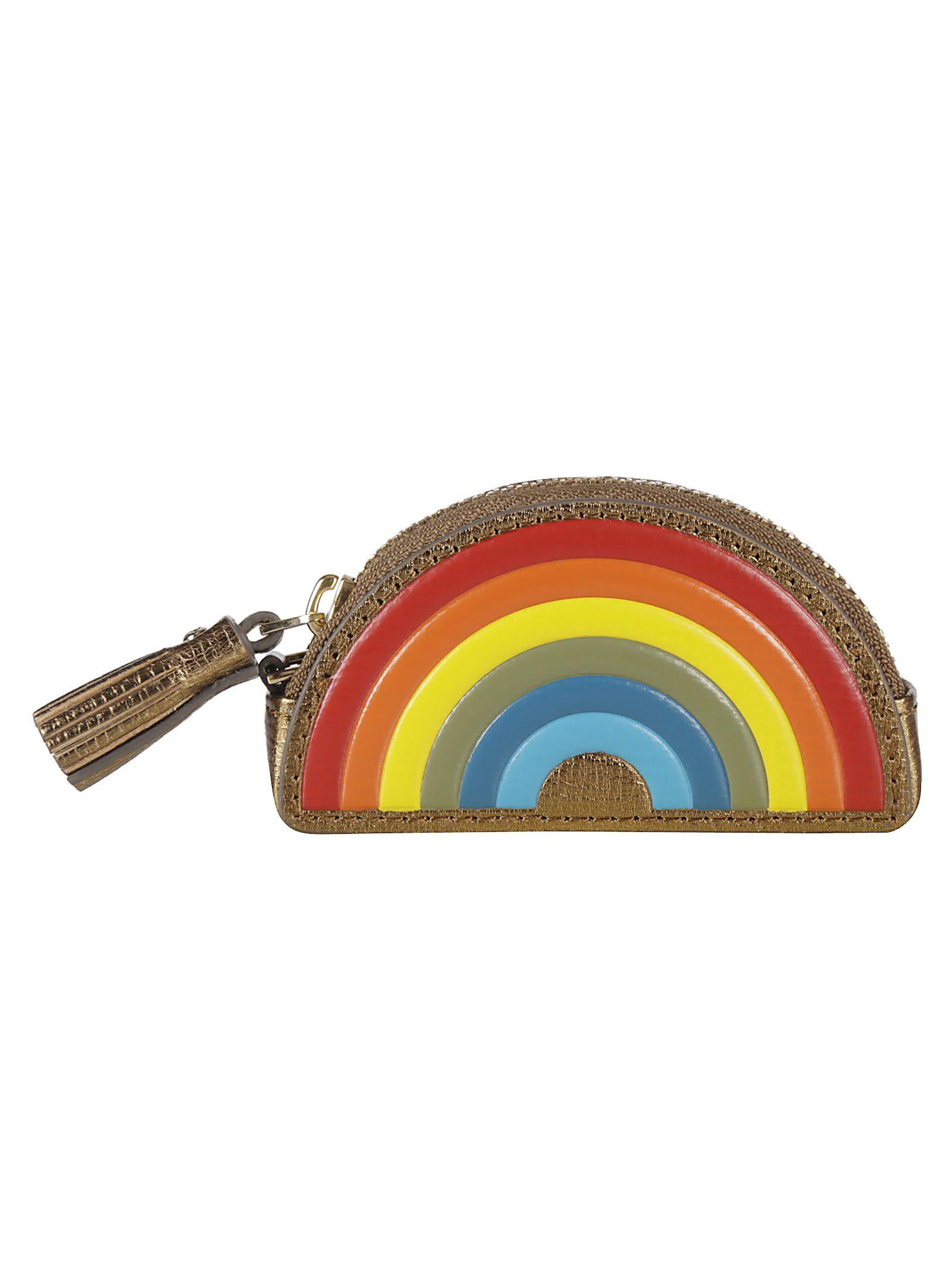 Anya Hindmarch Rainbow Coin Purse Clutch