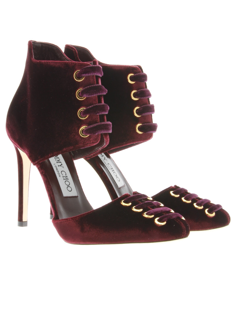 "MARI"" Velvet Lace-up Pump - Jimmy Choo - Luxury Addicted"