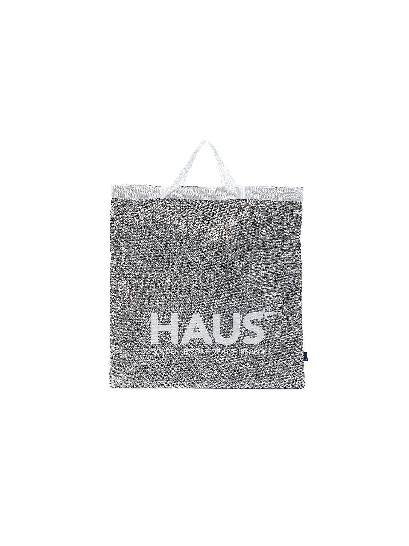Haus Golden Goose Silver Glitter Shopping Handbag
