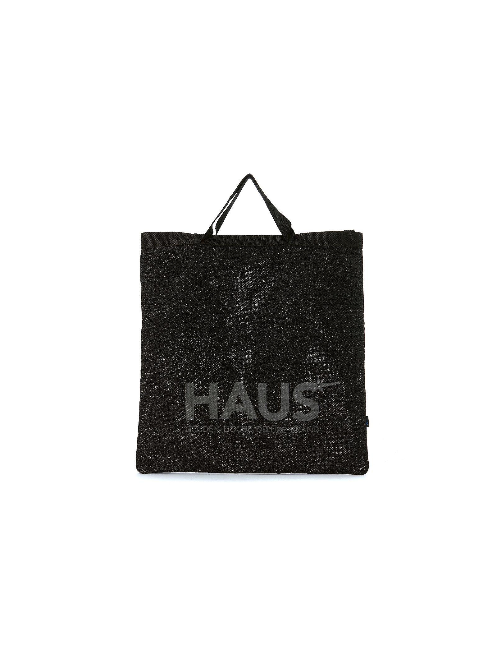 Haus Golden Goose Black Glitter Shopping Handbag