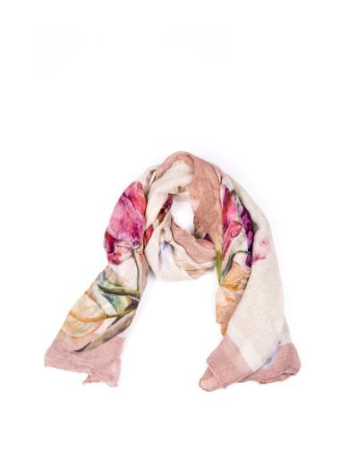 OTTOTREDICI Ottotredici Annalisa Giuntini Rosa Modal And Silk Scarf in Multicolor