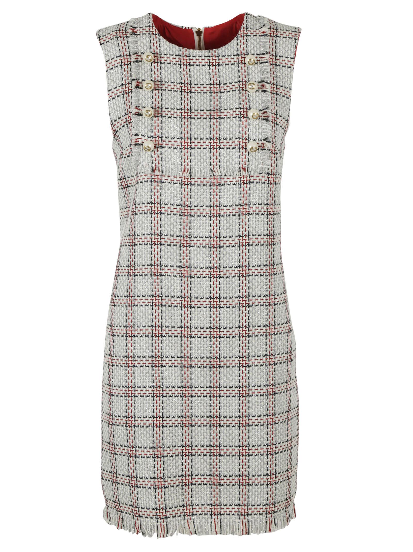 gucci female 45883 gucci embellished tweed dress