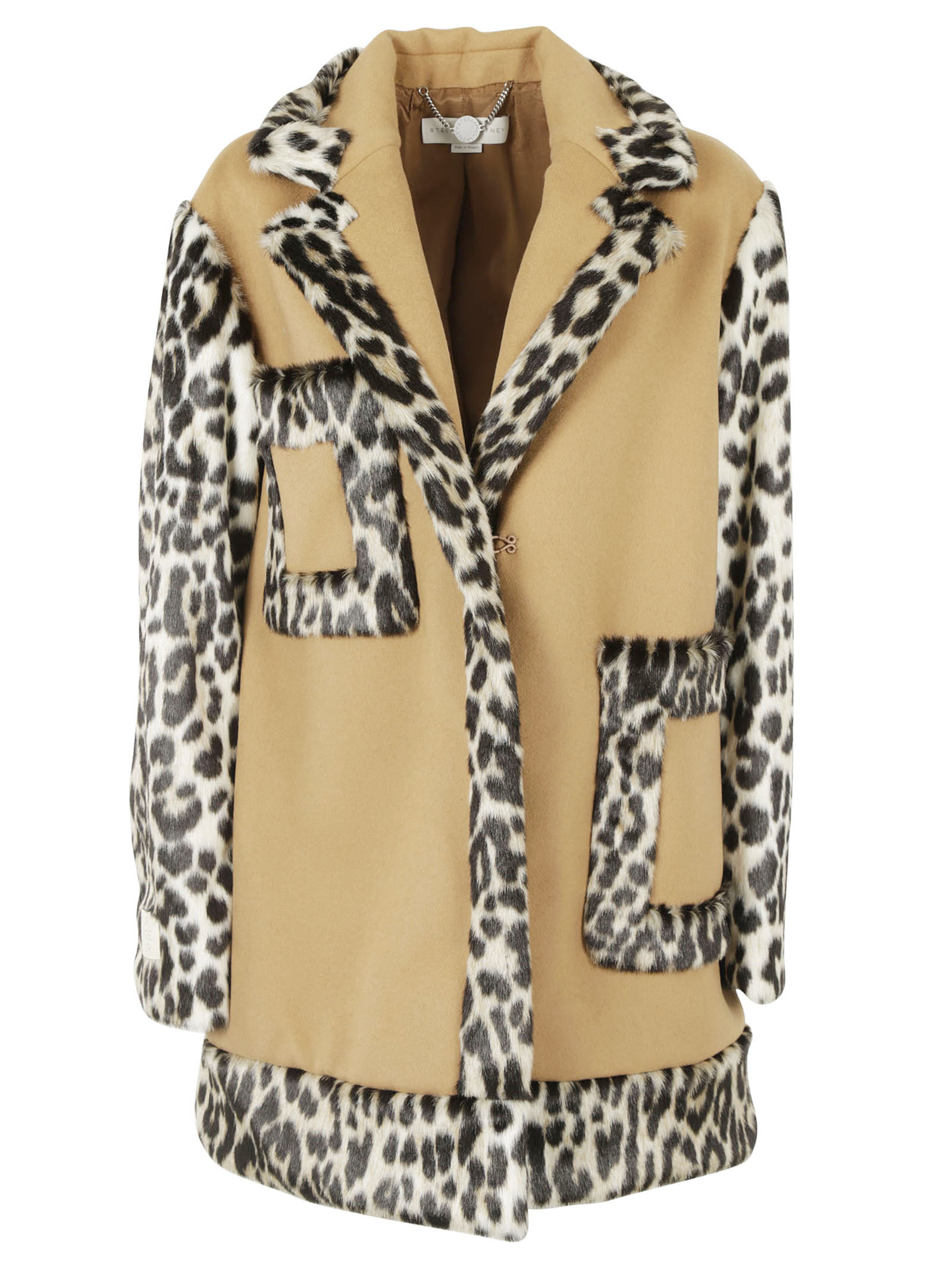 Stella McCartney Oversize Leopard Accent Coat - Stella McCartney - Hair