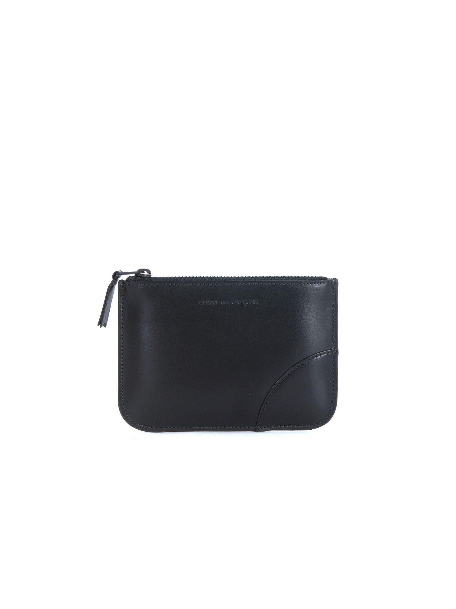 Comme Des Garçons Black Calf Leather Purse