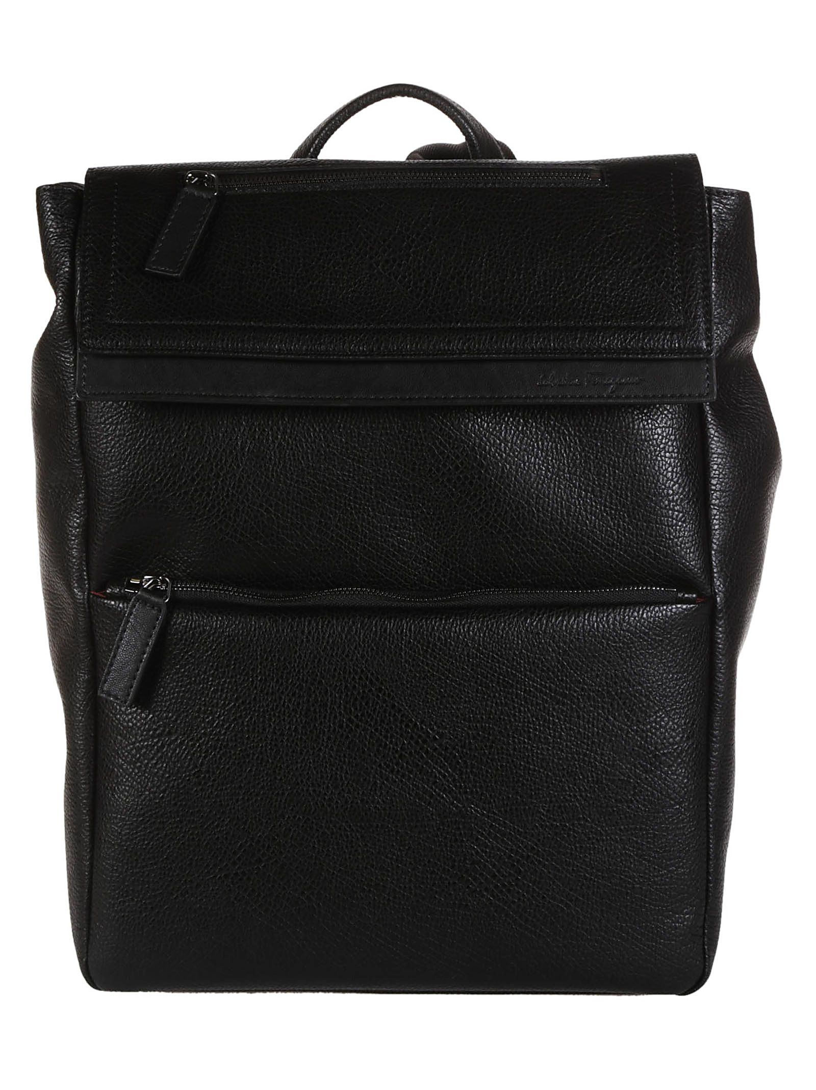 Salvatore Ferragamo Foldover Top Backpack