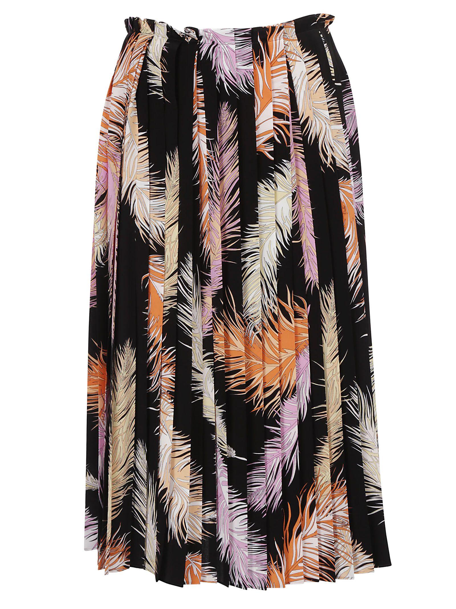 Emilio Pucci Plume Print Skirt