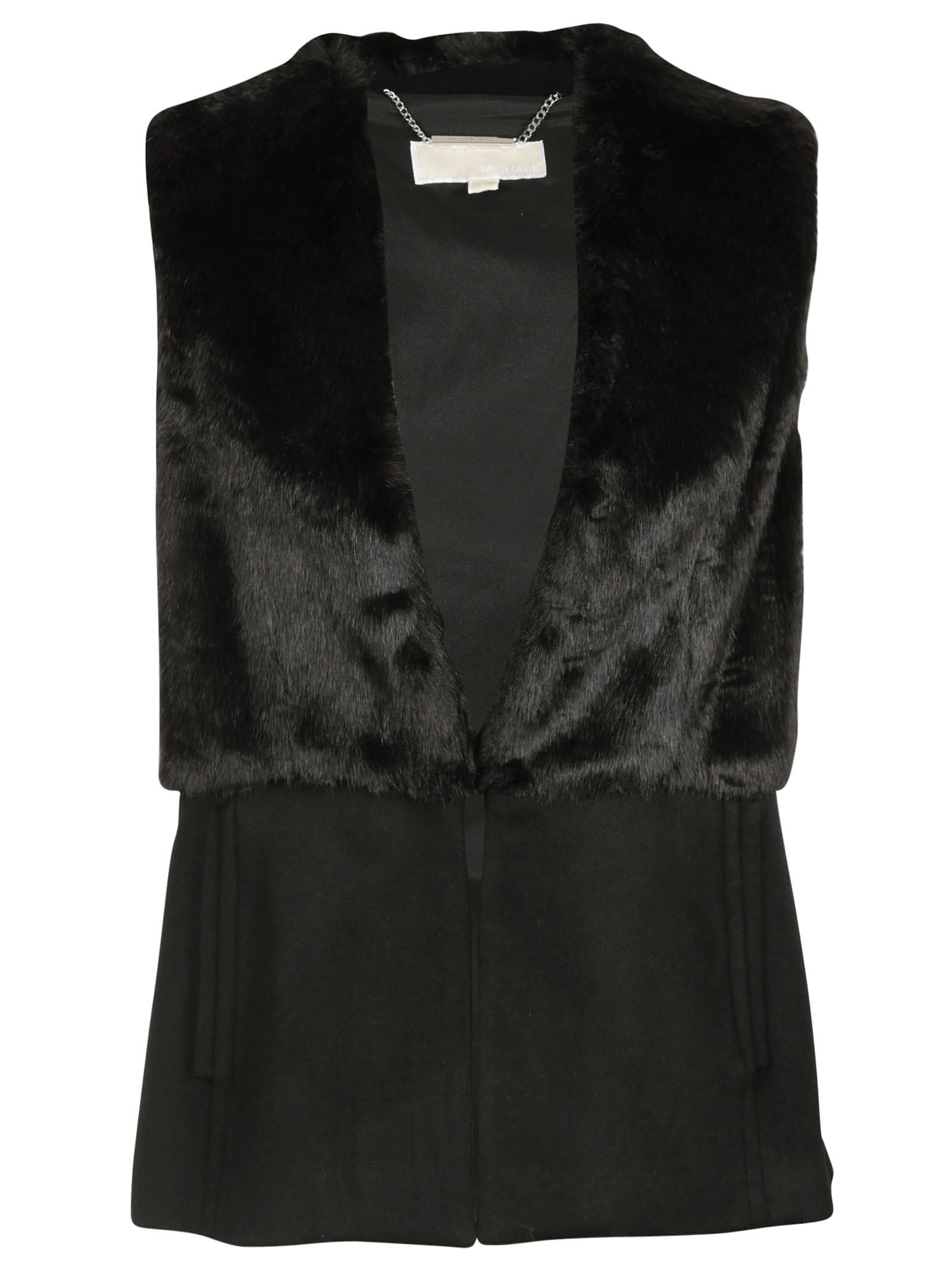 michael kors female 188971 black fur gilet