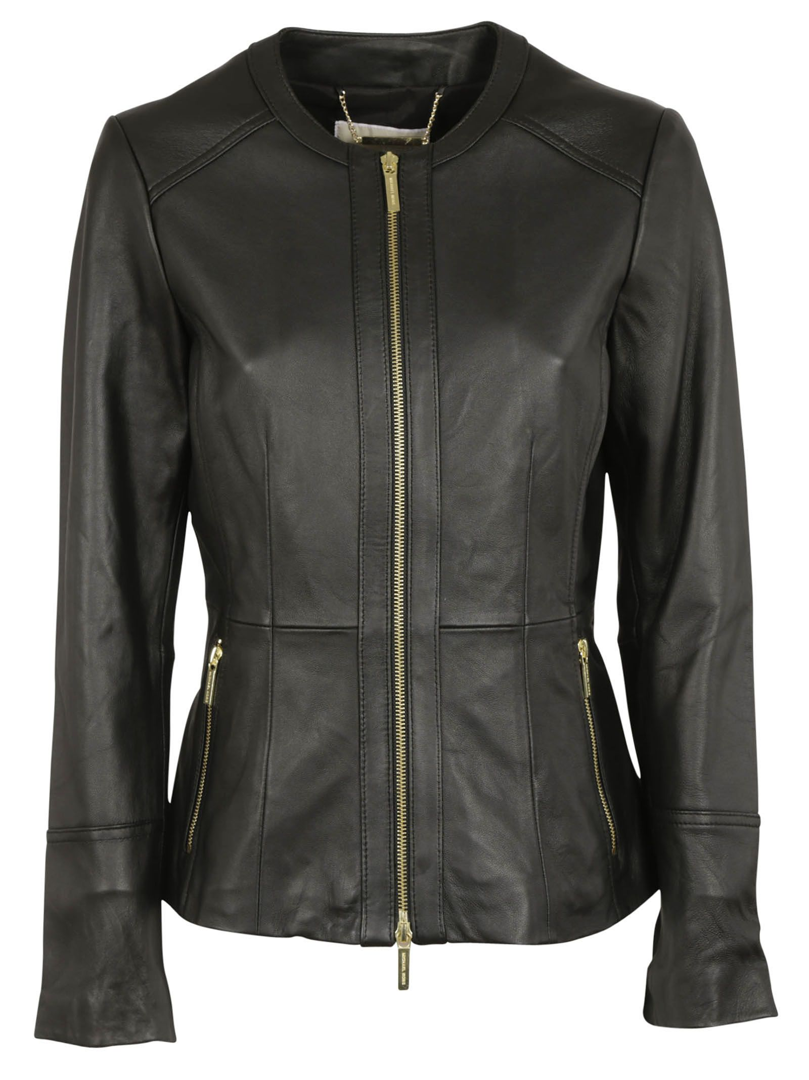 michael kors female 188971 black leather jacket