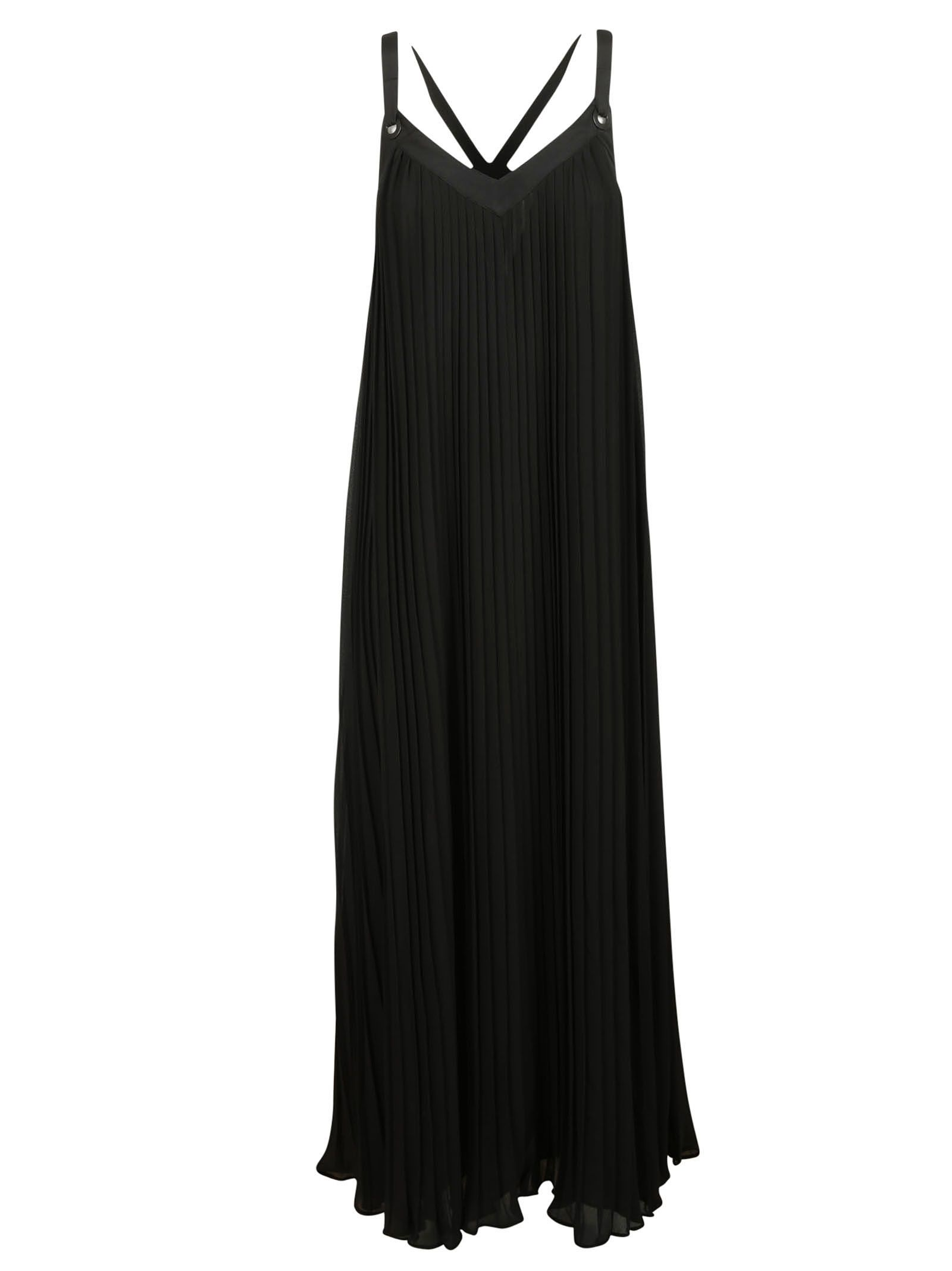 michael kors female 188971 black long dress