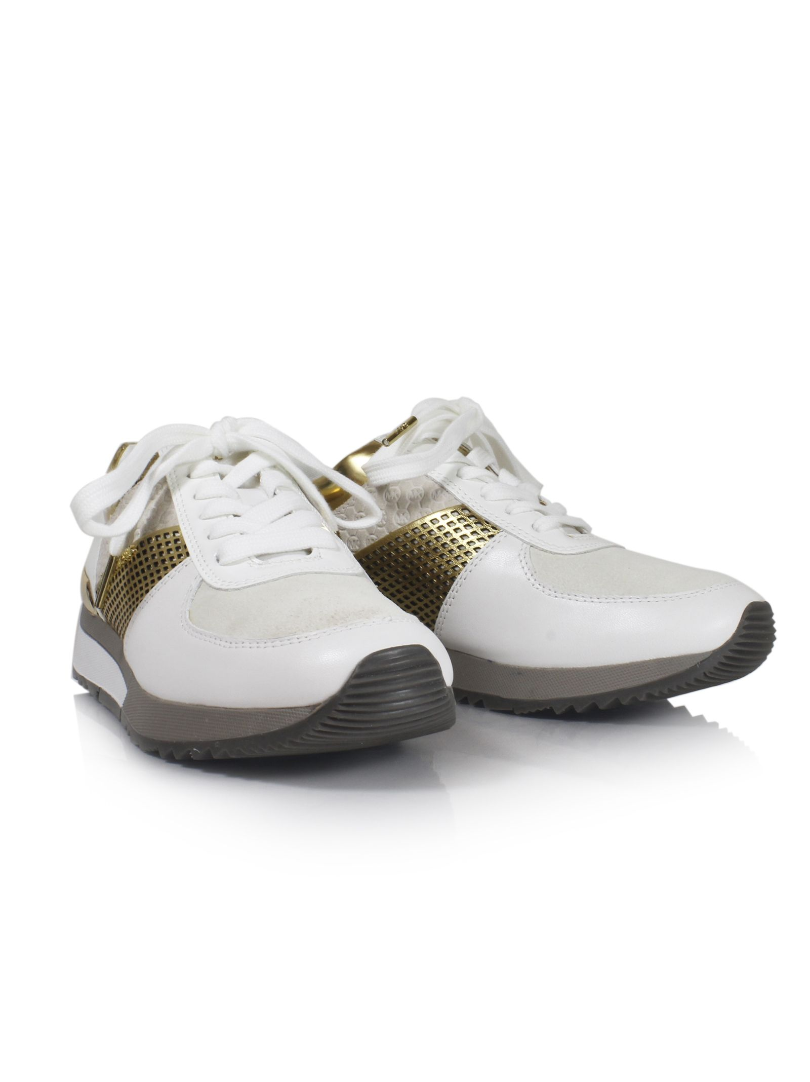 michael kors female 220183 optic white allie low sneakers