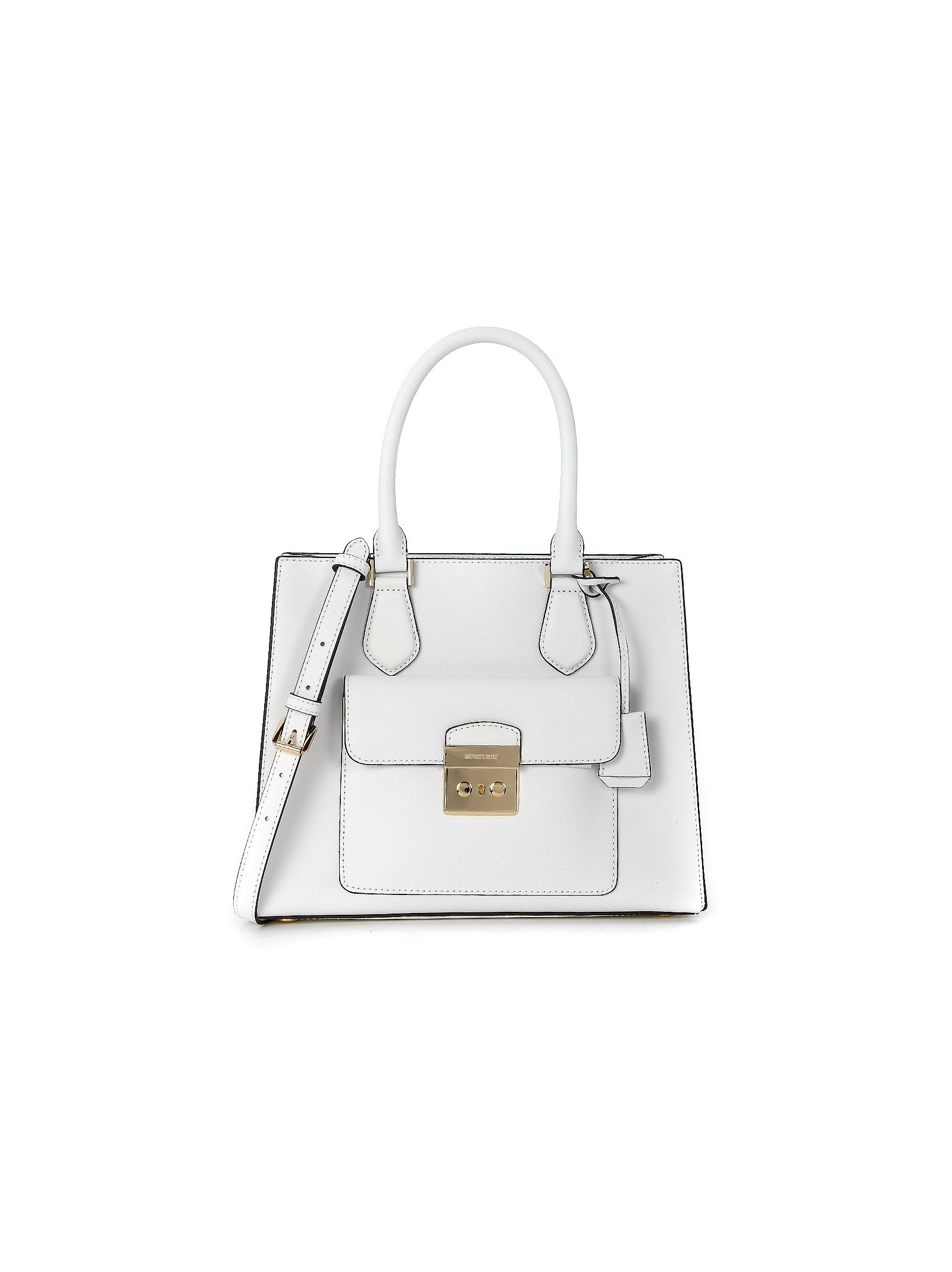 michael kors female  michael kors bridgette white leather handbag