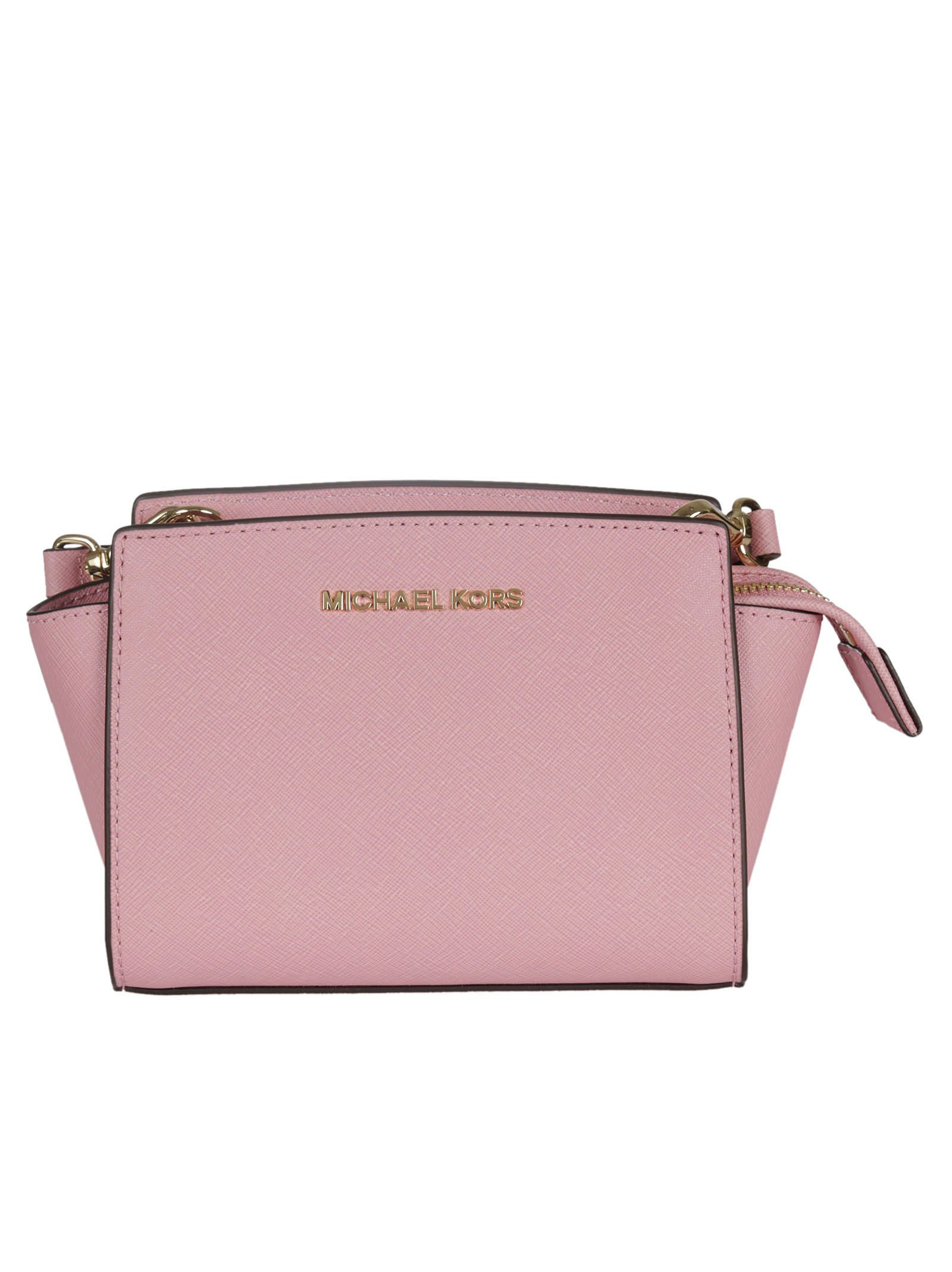 michael kors female 123825 misty rose selma mini messenger