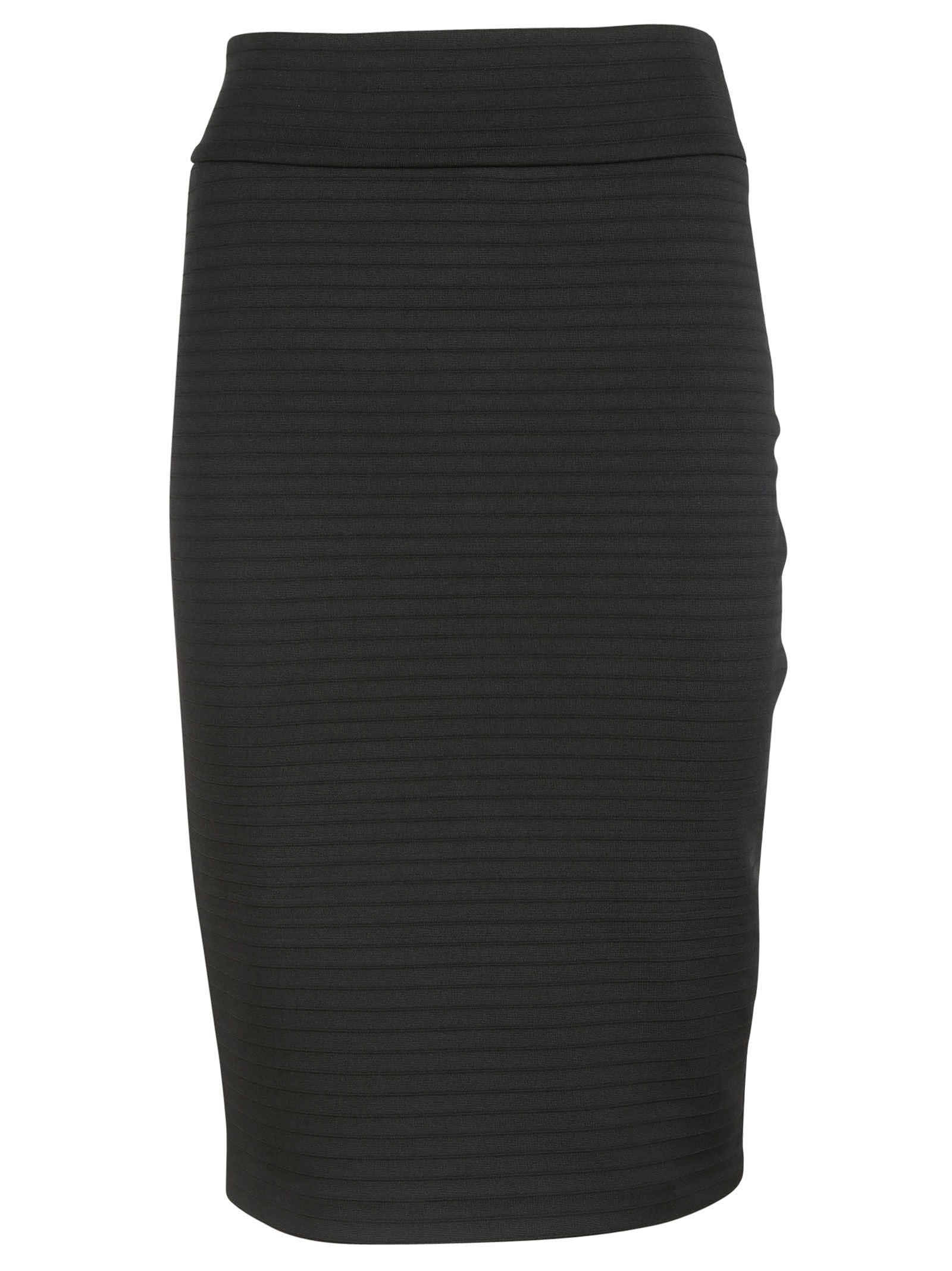michael kors female 188971 black knit pencil skirt