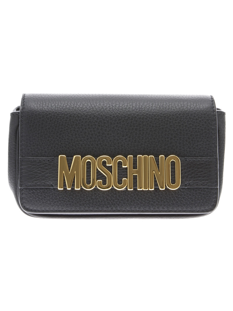 0a1409a998 Moschino Logo Lettering Leather Shoulder Bag - Black - 2778717 | italist