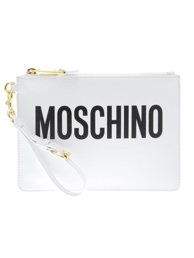 Leather Clutch - Moschino - Luxury Addicted
