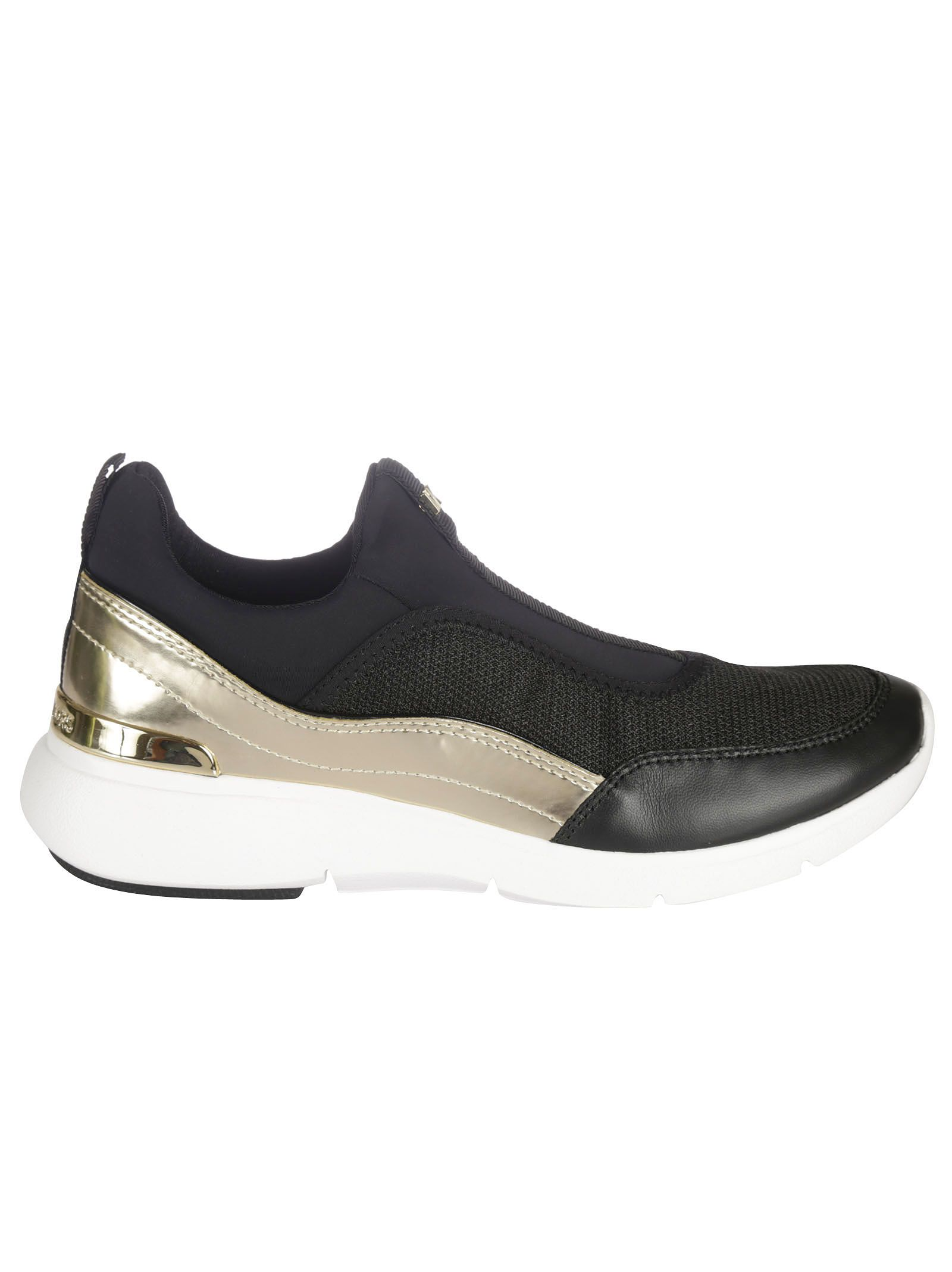 michael kors female 220183 black gold ace mesh sneakers
