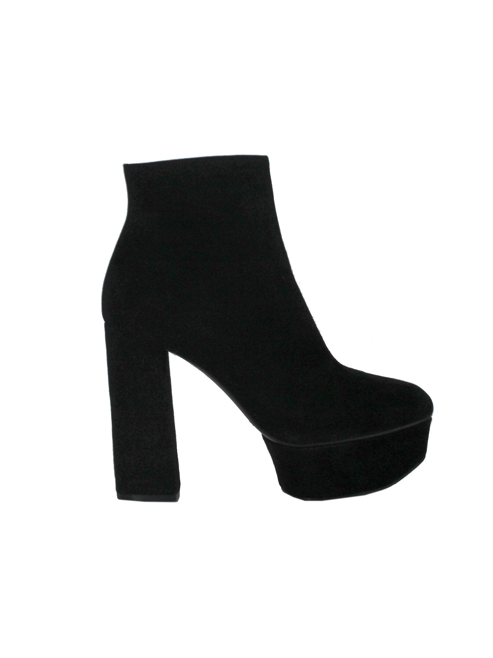 Black Suede Ankle Booties - Casadei - Circus