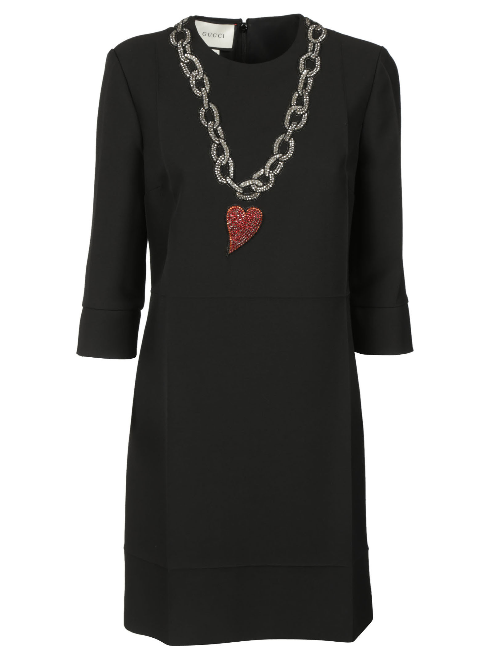 gucci female 188971 gucci heart pendant printed dress