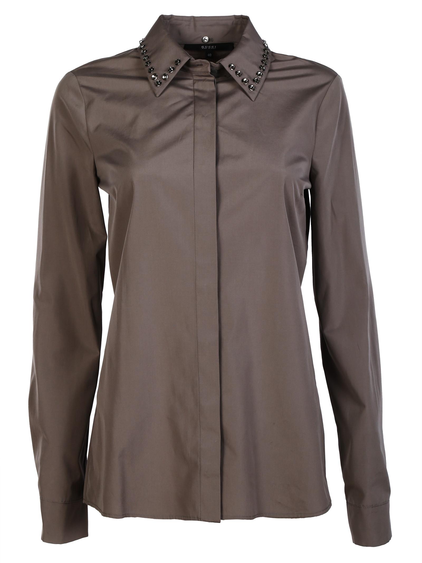 gucci female 45906 gucci cotton poplin shirt