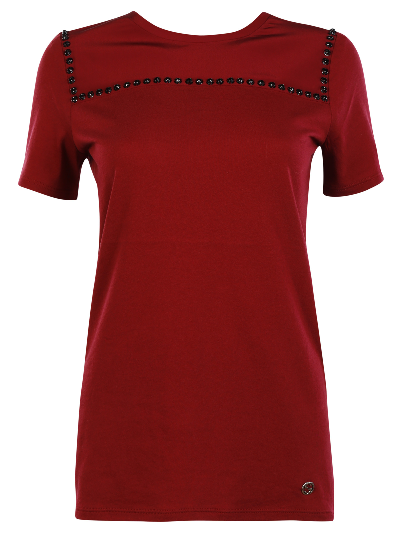 Gucci gucci cotton and silk embrodered t shirt 389917 for Cotton silk tee shirts