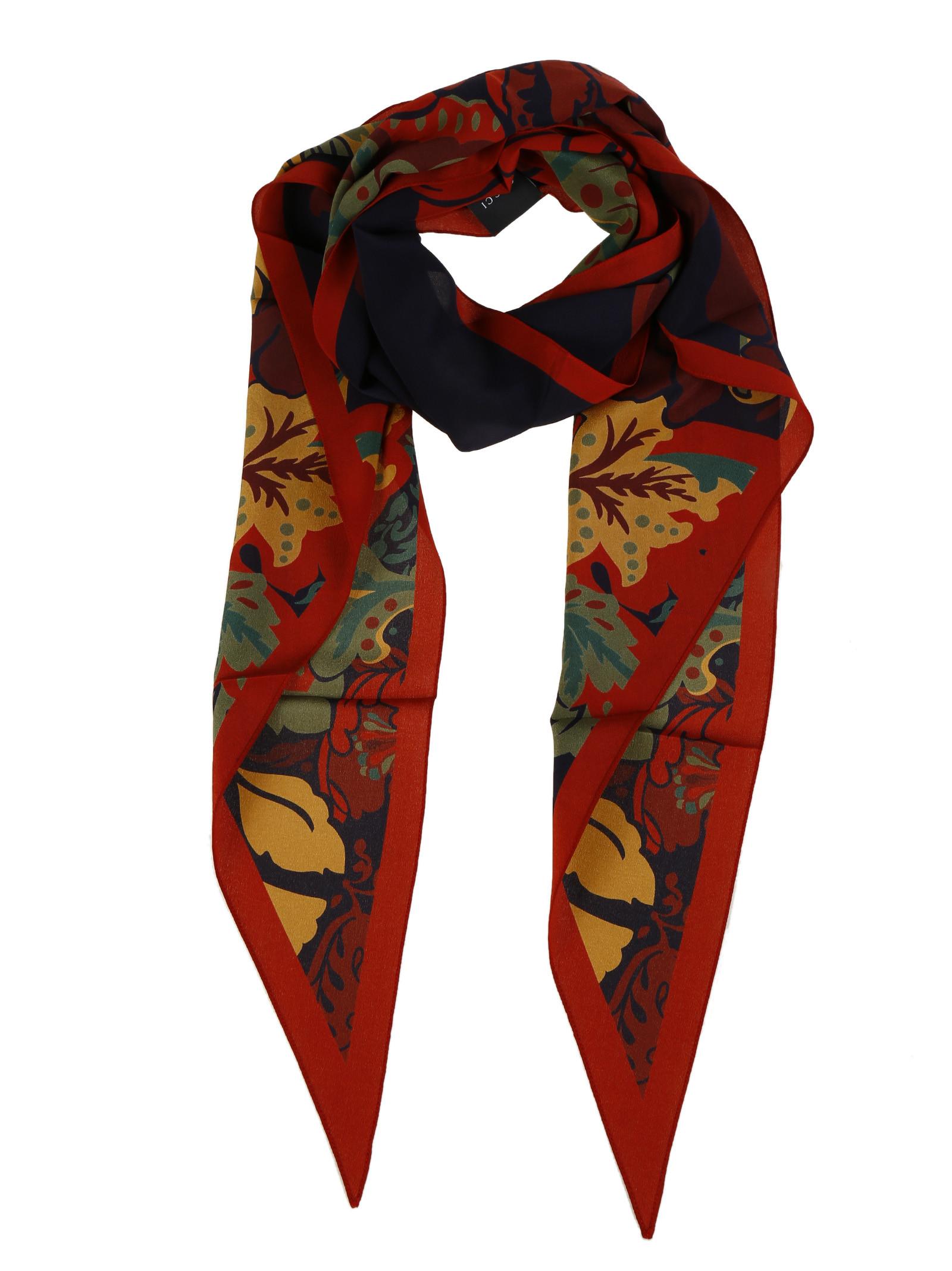 gucci male 253490 gucci silk flower print scarf