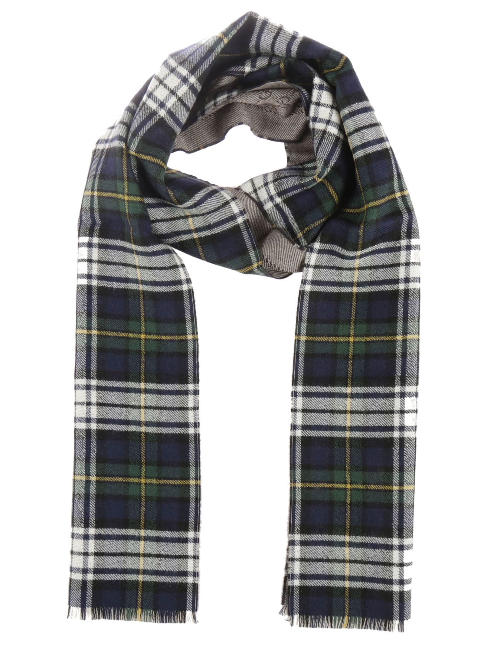 gucci male 377606 midnight blue logo check scarf