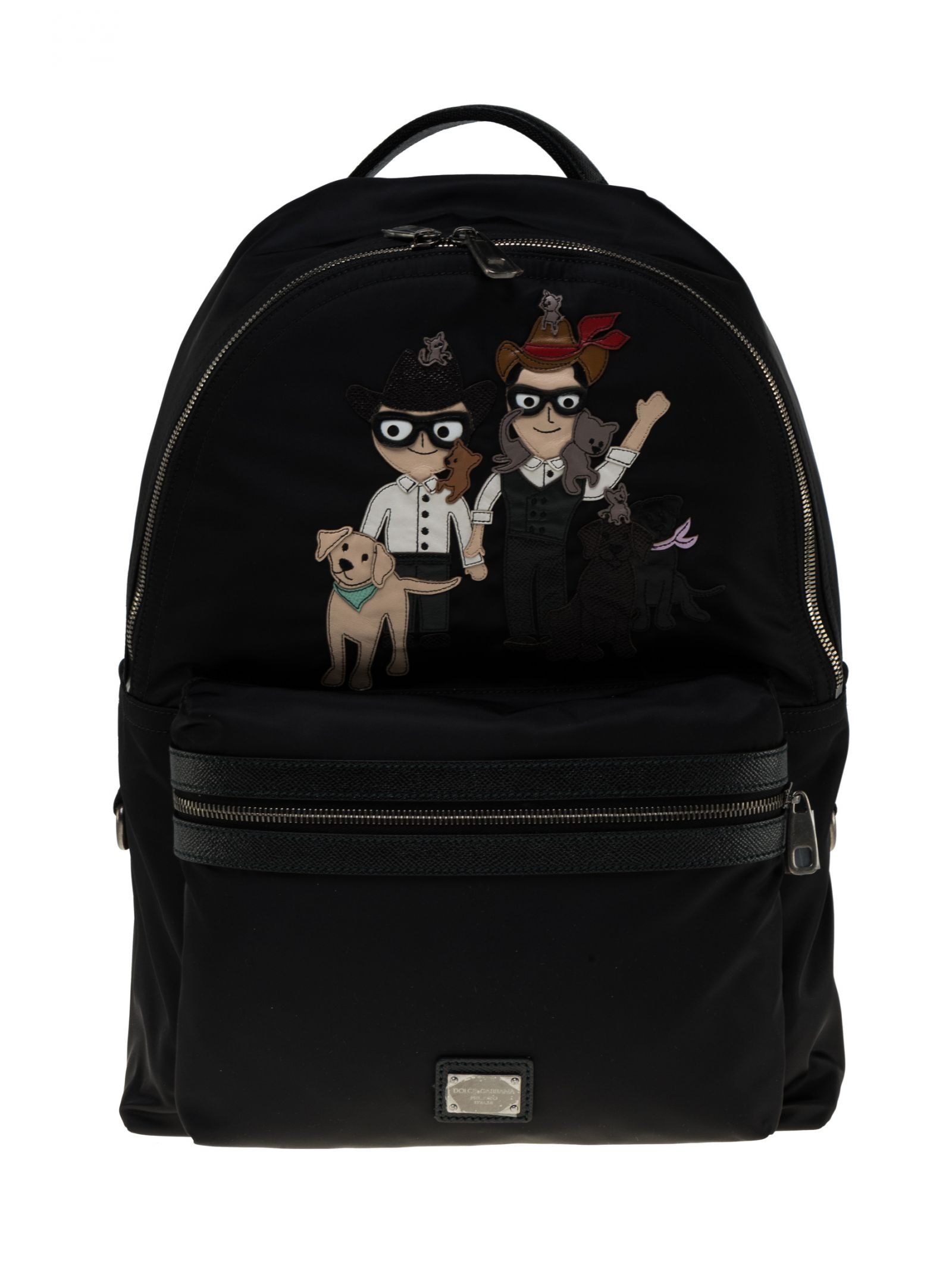 Dolce & Gabbana Vulcano Designers Patch Backpack