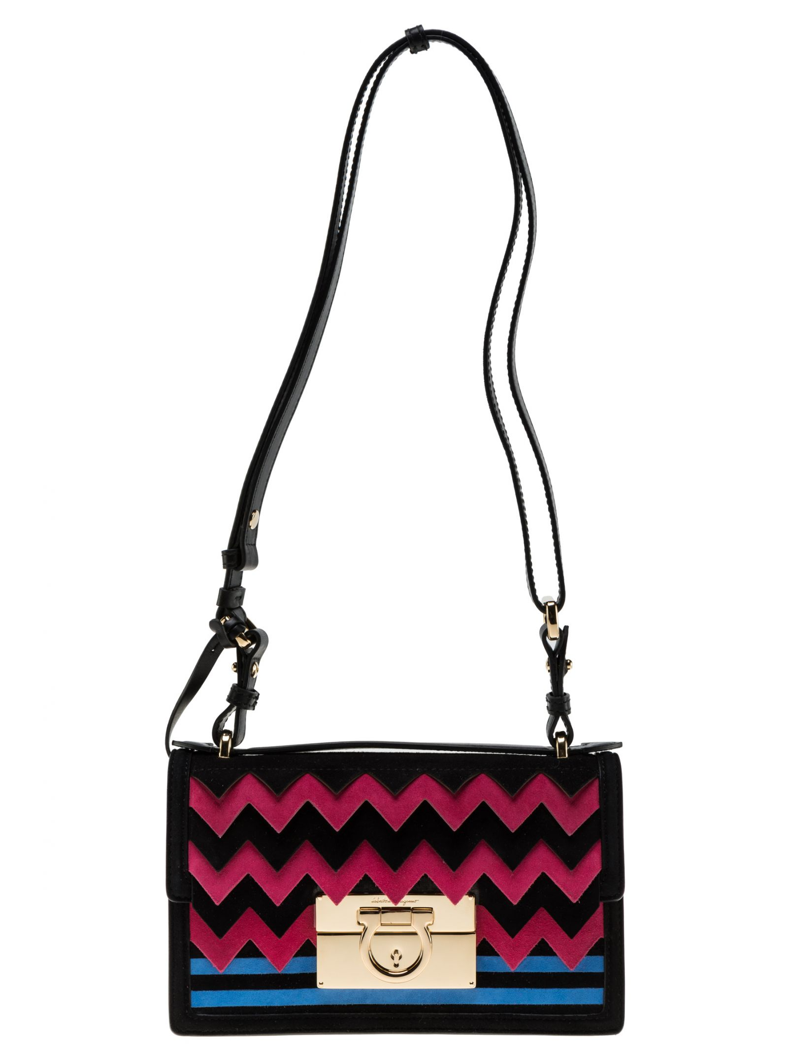 Salvatore Ferragamo Gancio Lock Shoulder Bag
