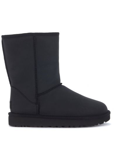 Ugg Leathers Tronchetto Ugg Classic Ii Short In Pelle Nera