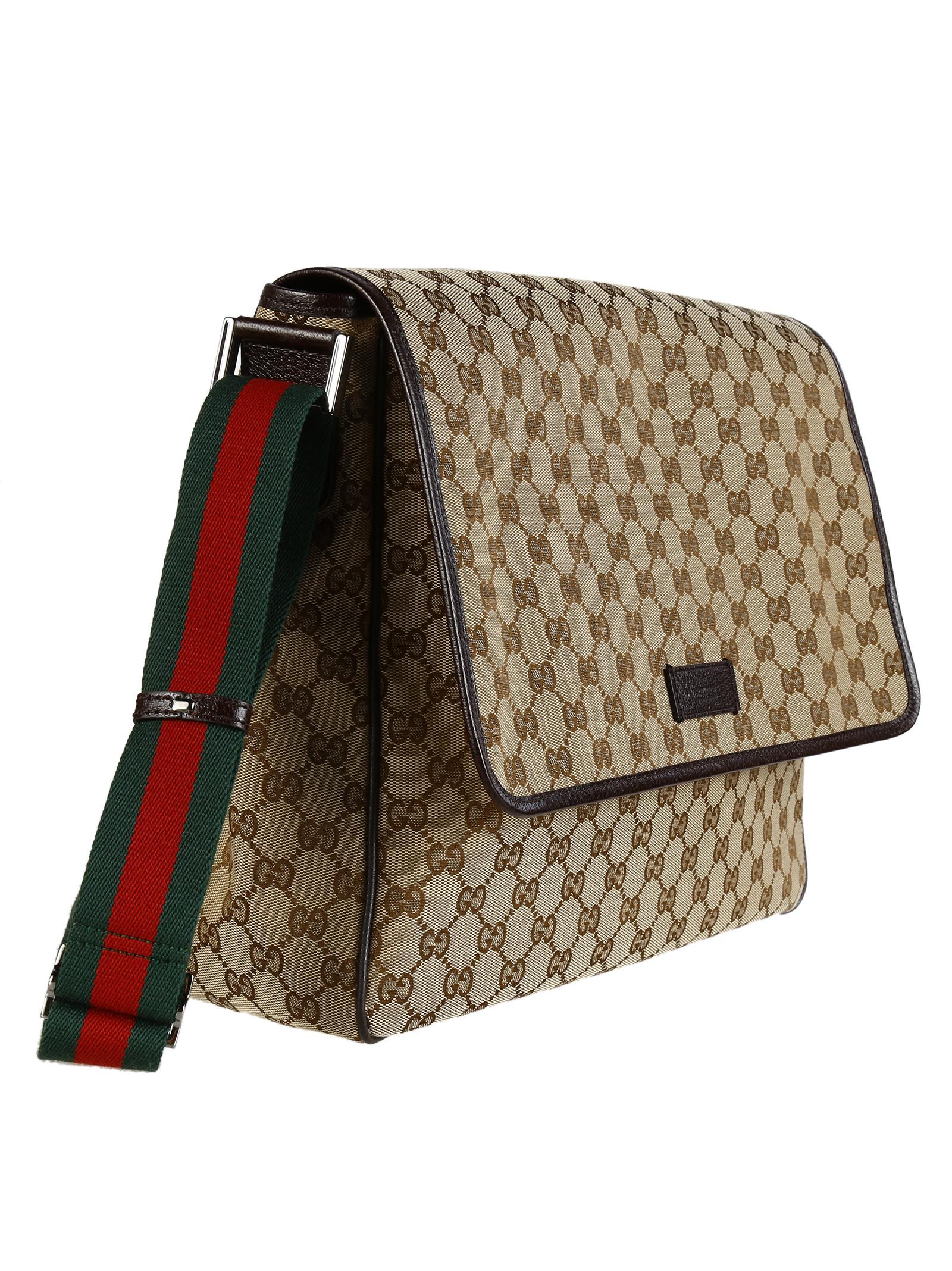 gucci gucci original gg canvas medium messenger bag 233052 f4f5r 9791 men 39 s satchels italist. Black Bedroom Furniture Sets. Home Design Ideas