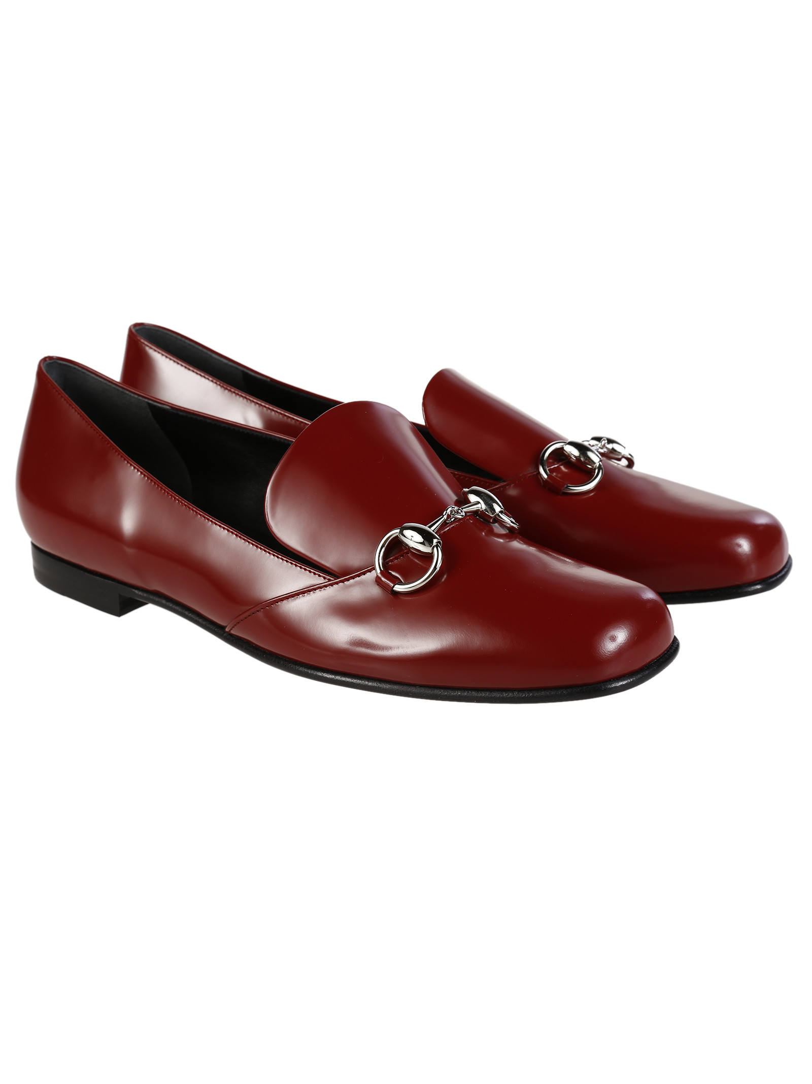 Gucci - Gucci Polished Leather Horsebit Loafer - 370229 ...