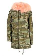 Mr & Mrs Italy Canvas Camu Parka Midi