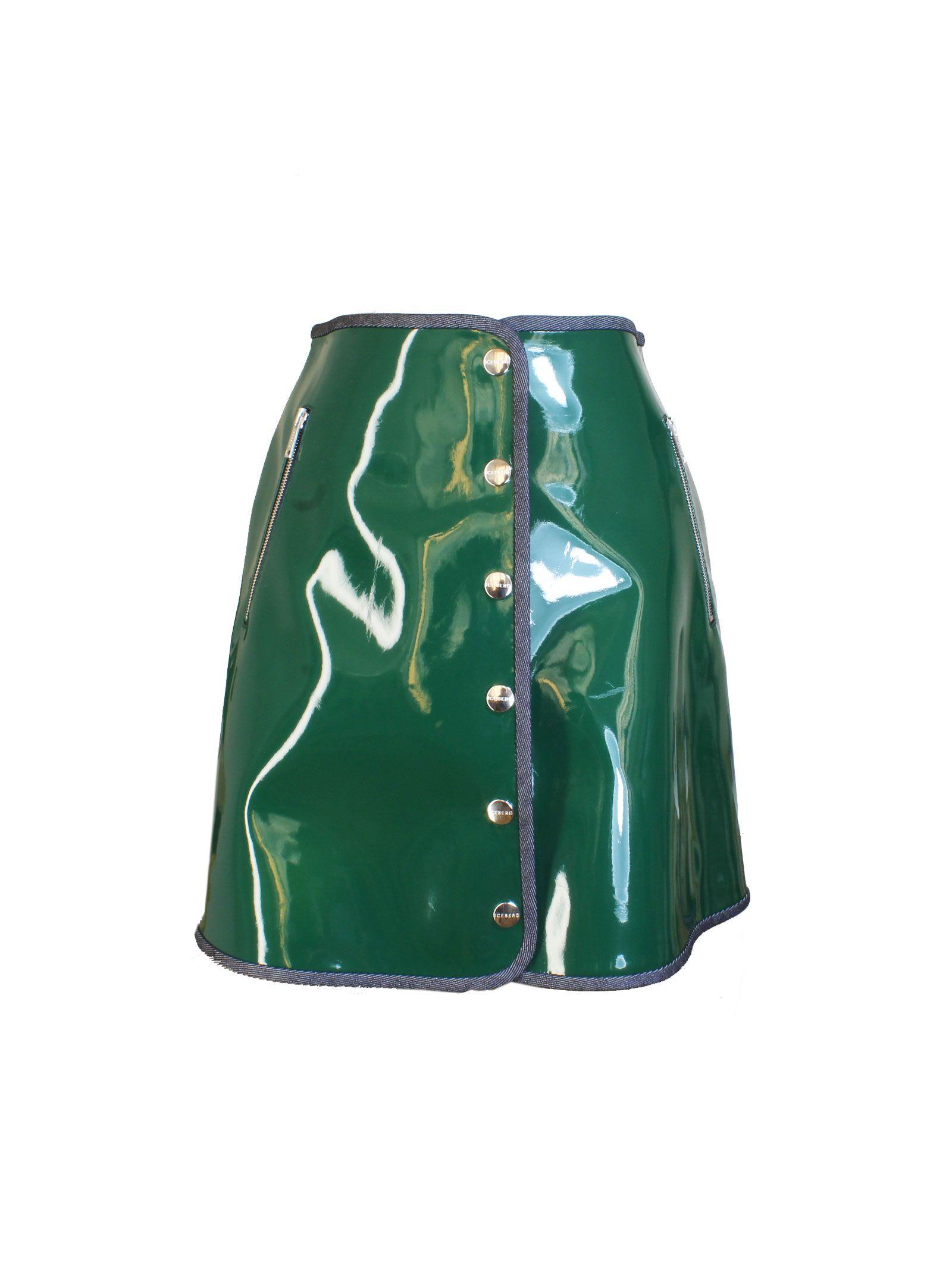Green Patent Leather Mini Skirt - Iceberg - Circus