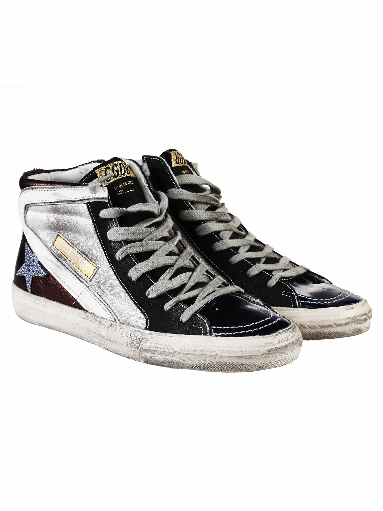 golden goose golden goose slide leather sneakers g27d124 n3 women 39 s sneakers italist. Black Bedroom Furniture Sets. Home Design Ideas