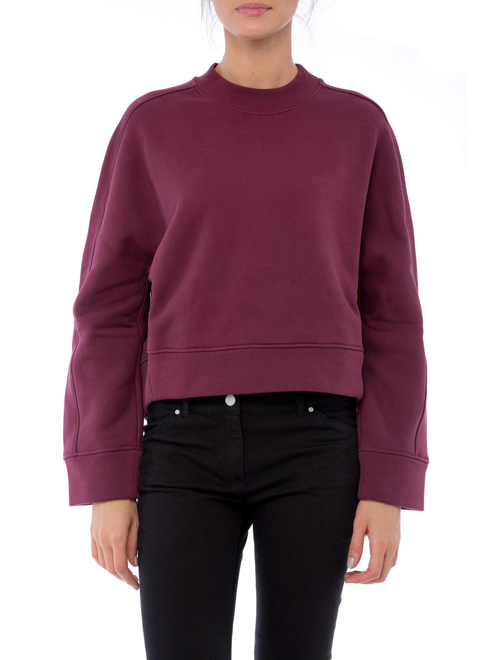 Sweatshirt Balenciaga in bordeaux cotton. Details:- 100% Cotton
