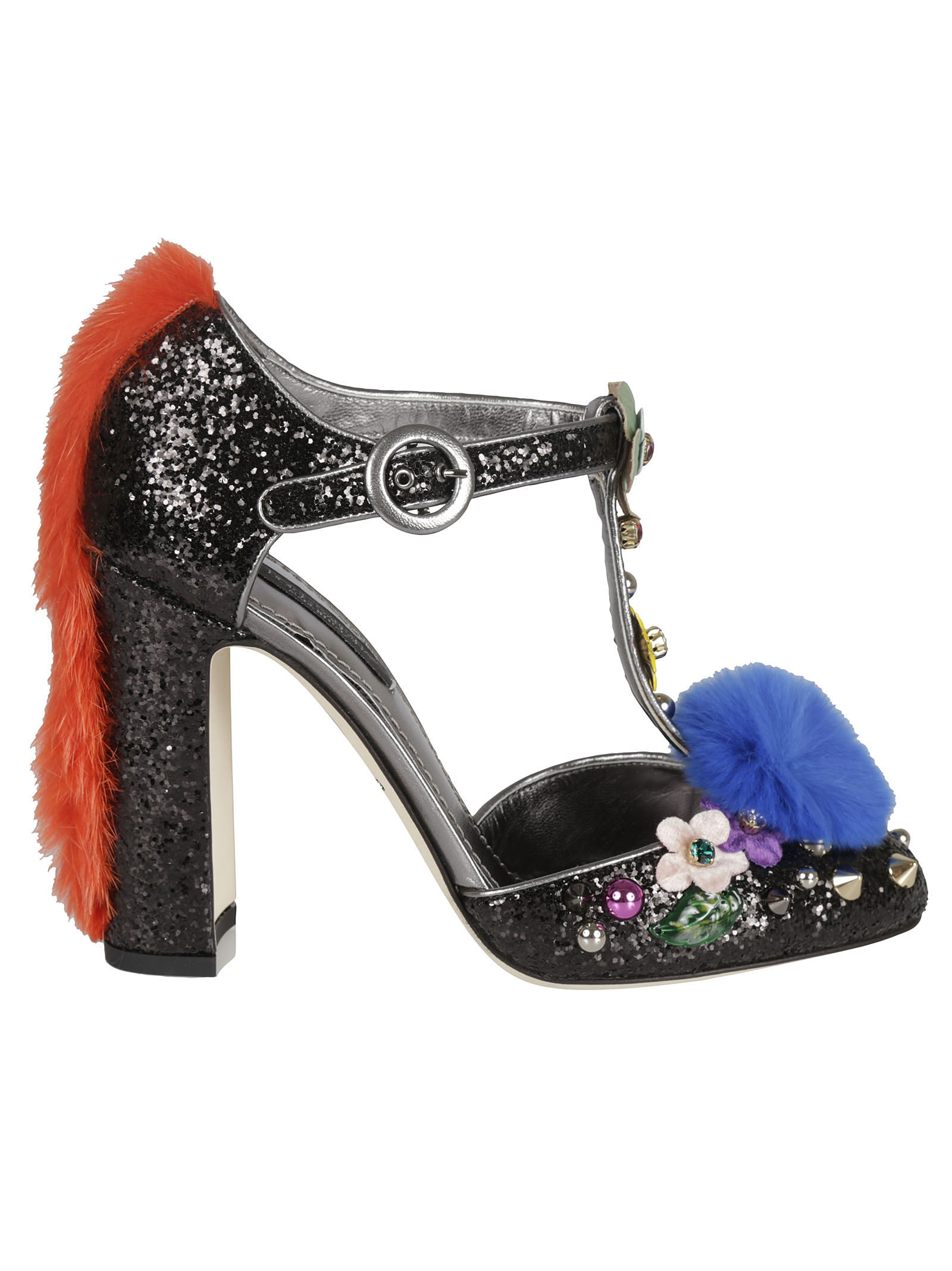 Dolce & Gabbana Glitter Mary Jane Pumps - Dolce & Gabbana - Hair