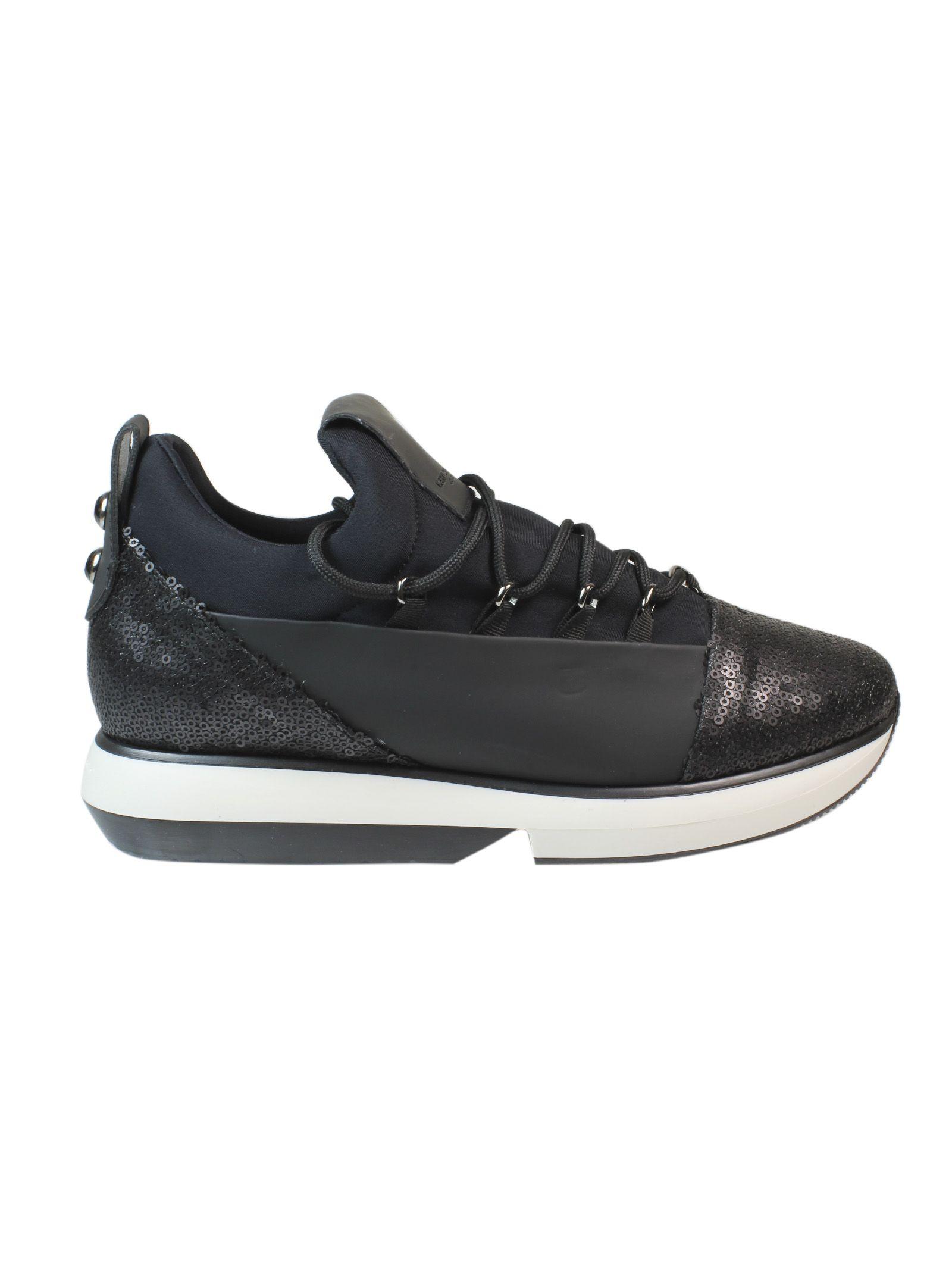 Black Sequins Sneakers