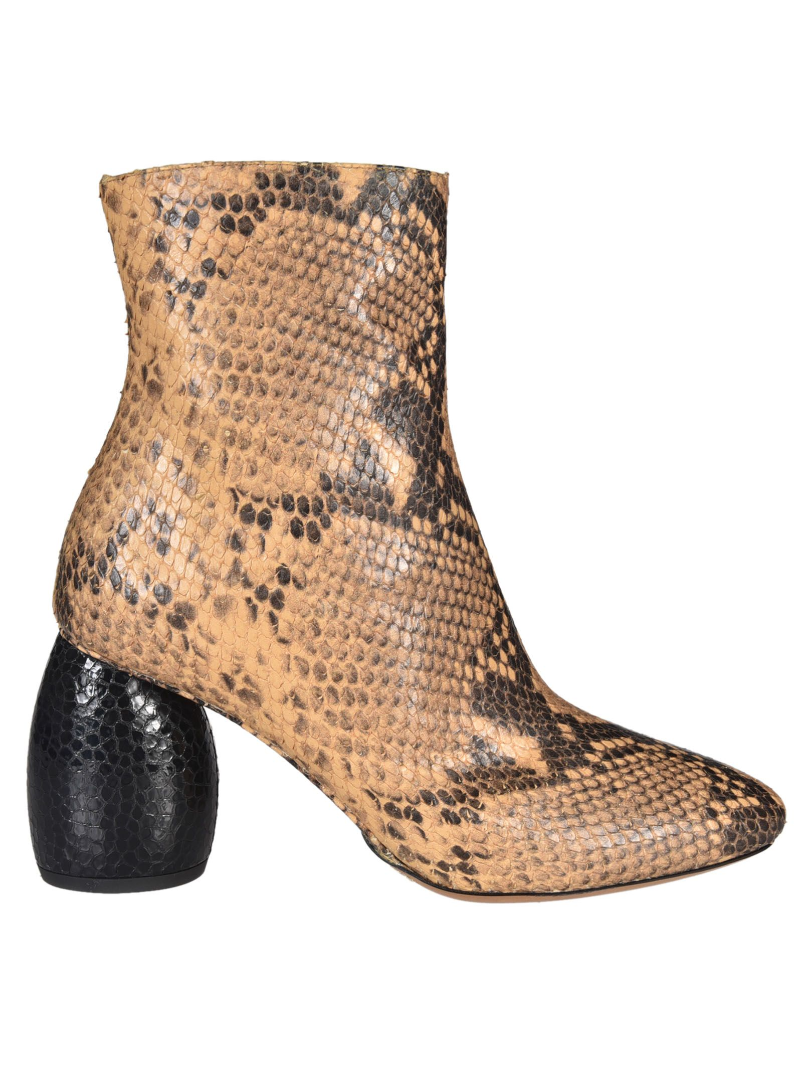 Dries Van Noten Mirrored Heel Ankle Snake Boots - Dries Van Noten - Philosophy