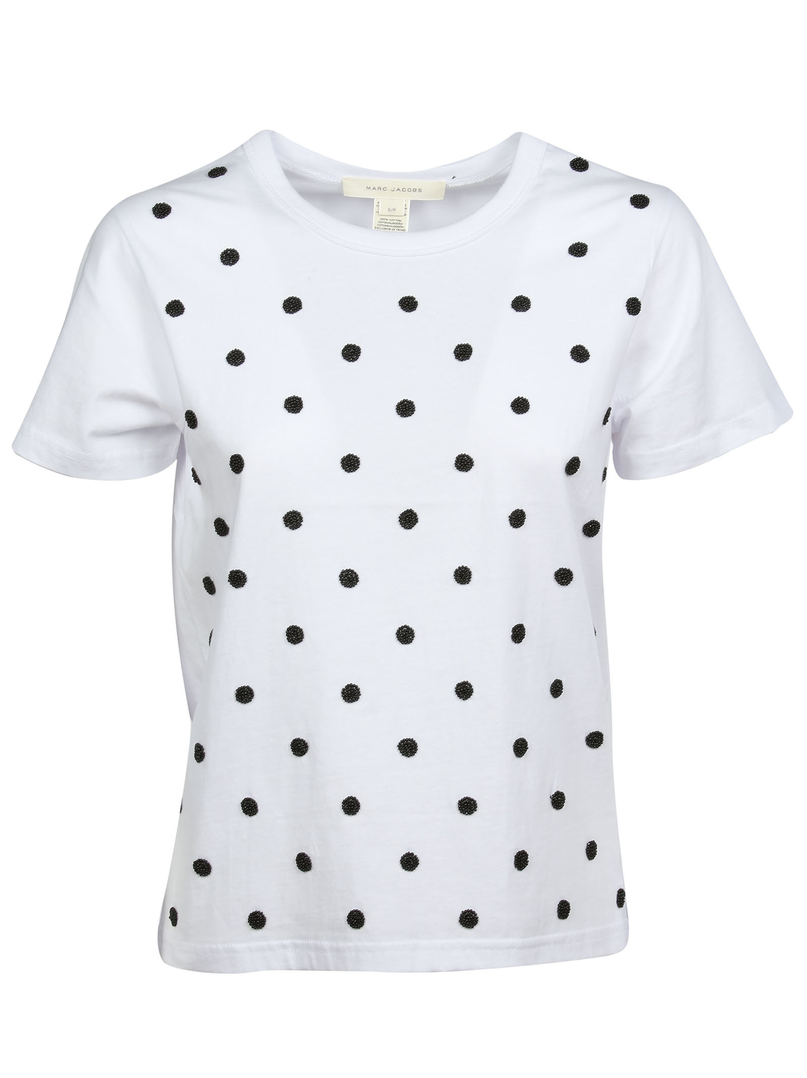 marc jacobs female marc jacobs bead polka dot tshirt
