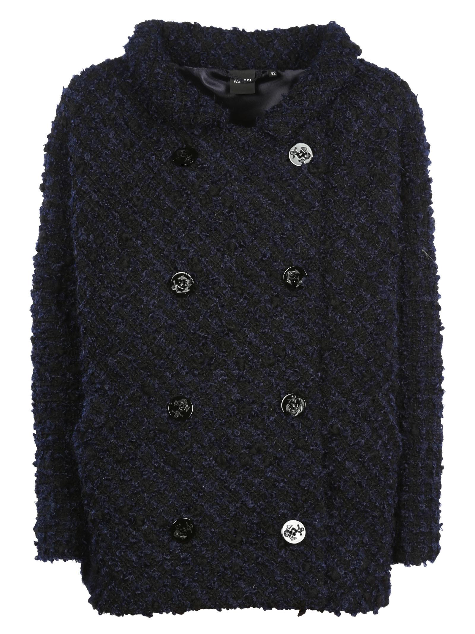 Aspesi Embroidered Pea Coat