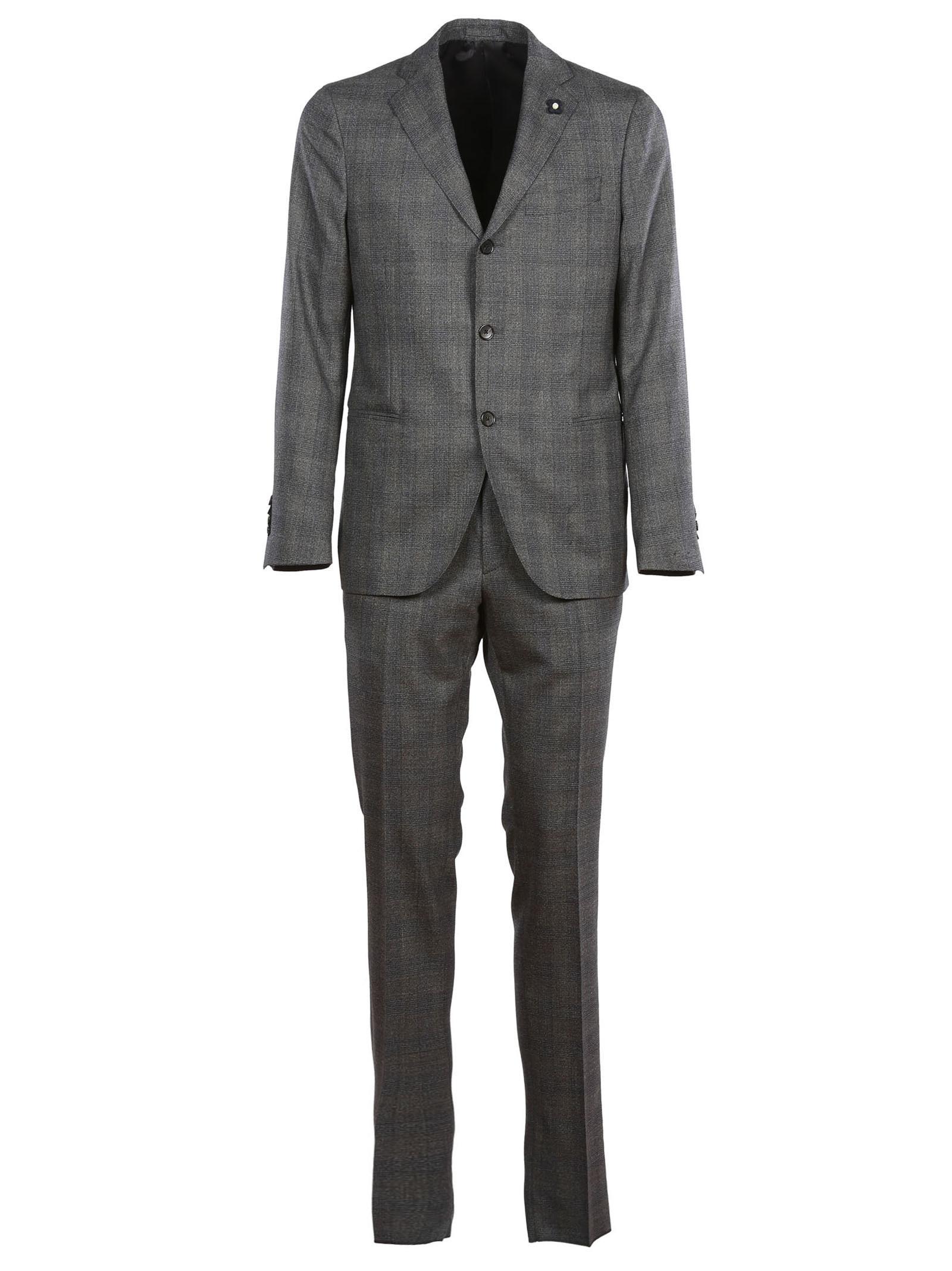 Lardini Checked Suit