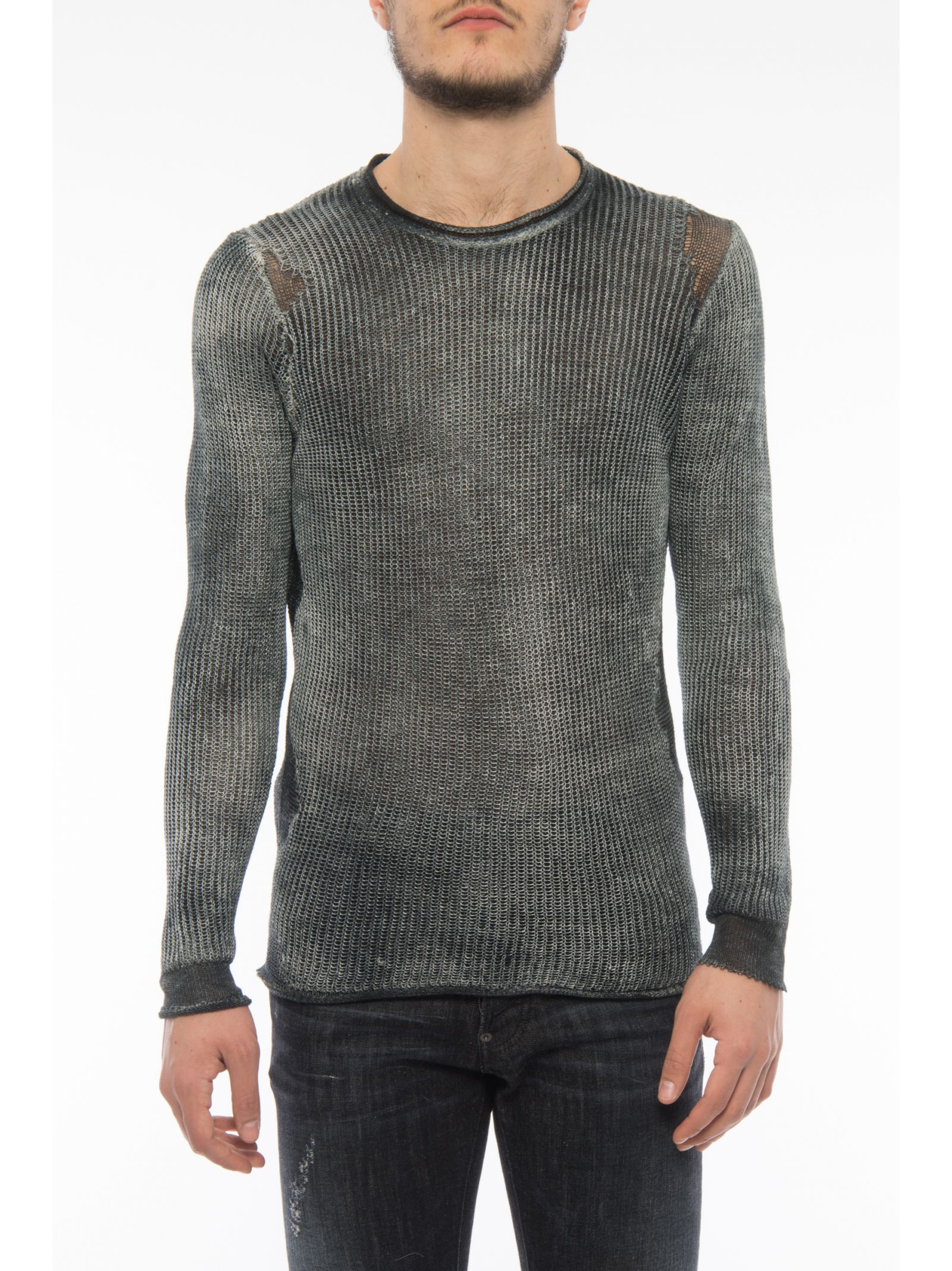 Painted Waffle Knit Pullover