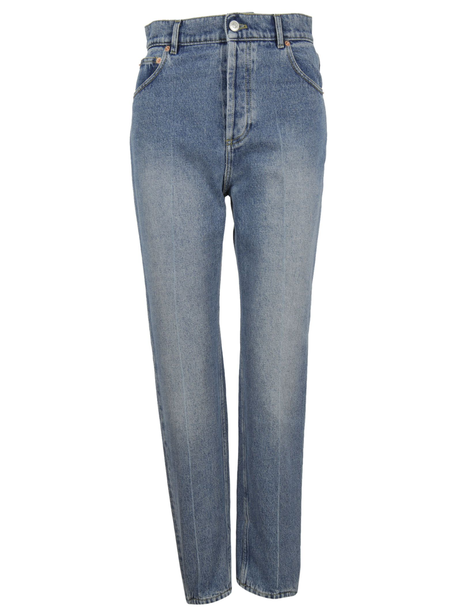 Blue Stirrup Denim Pants - Balenciaga - Circus