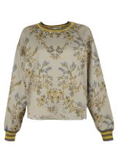 Chalk Floral Print Sweater
