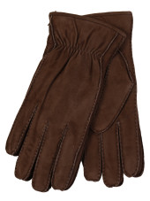 Restelli Suede Lamb Gloves With Rabbit Lining