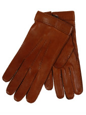 Restelli Deer Gloves With Mother Of Pearl Button