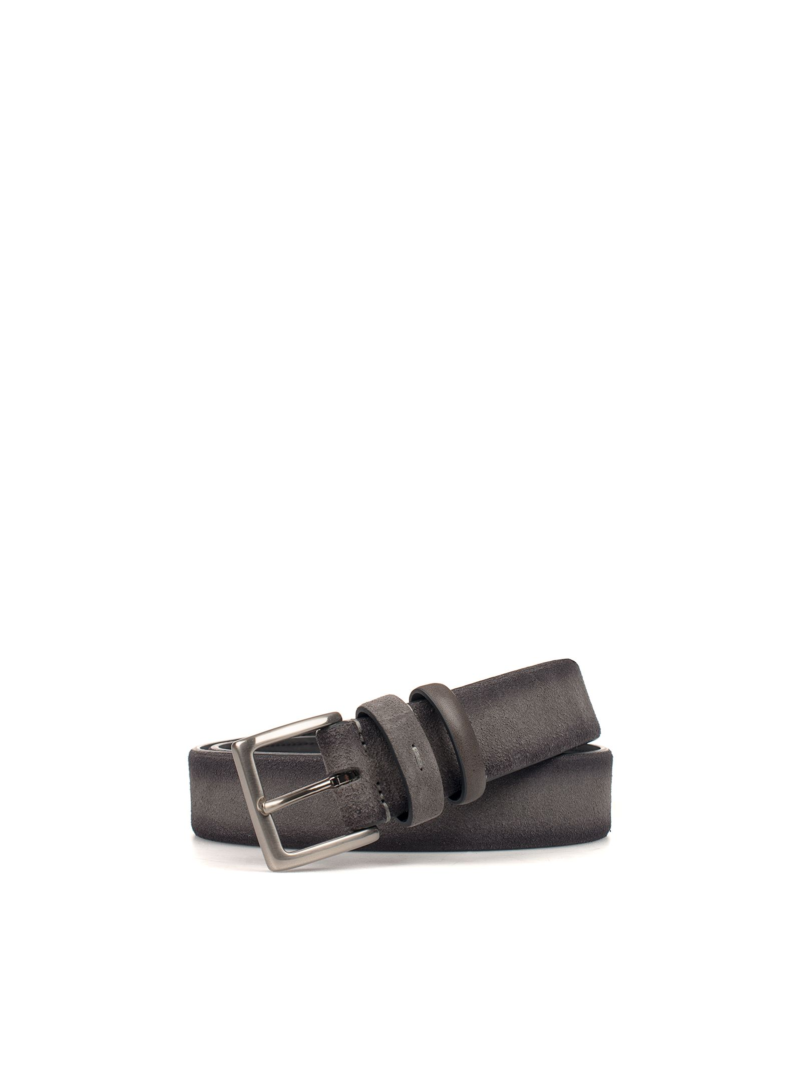 Gray Nubuk Leather Belt
