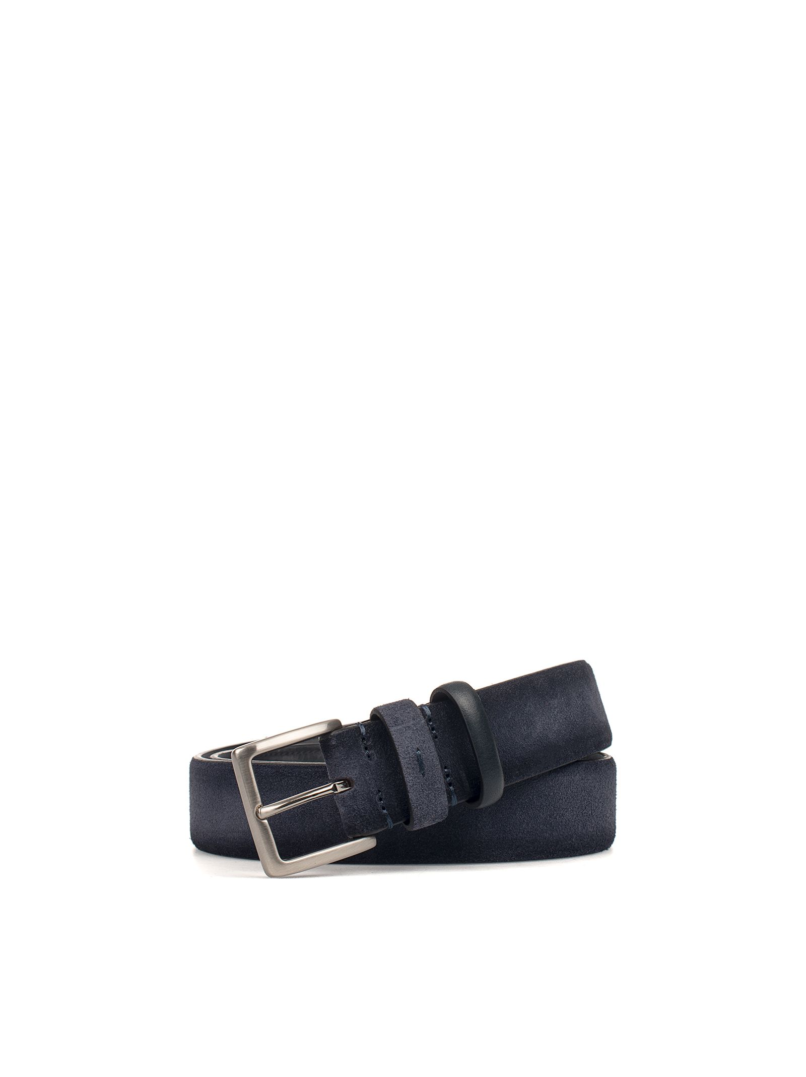 Blue Nubuk Leather Belt