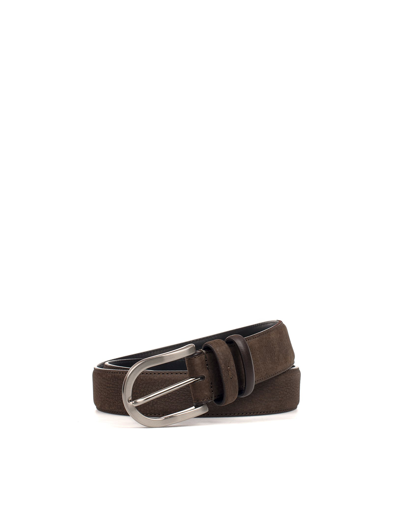 Brown Hammered Leather Belt